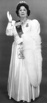 Queen Elizabeth look-alike